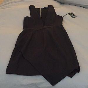 NBD x Naven low V mini dress